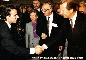 With Prince Albert - Brussels 1989