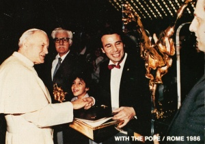 With The Pope Pope Jean Paul II / Rome 1986
