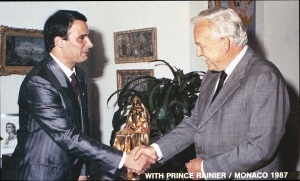 With Prince Rainier - Monaco 1987