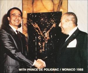 With Prince De Polignac - Monaco 1988