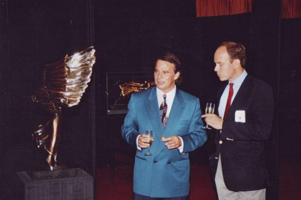 Avi Kenan with HSH Prince Albert - Monaco - 1990