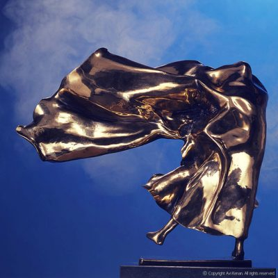Bronze on marble - made by Avi Kenan - size 55x50x25cm