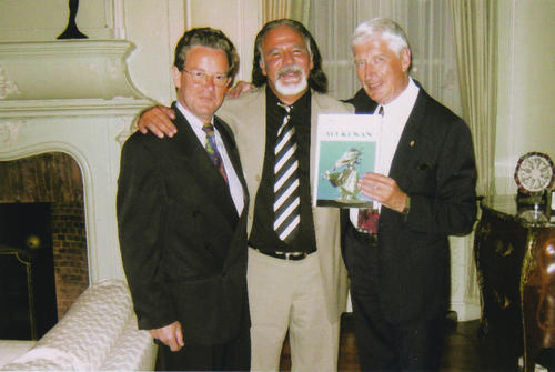 With Former-Prime-Minister of the Netherlands Mr. Andreas Van Agt and with the Ambassador of the Netherlands Mr. Antoine Van Dongen - 2004
