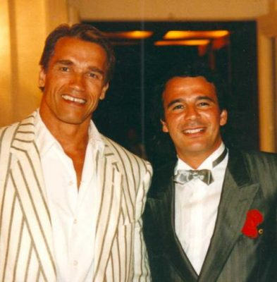With Arnold Scharzenegger - France in 1988