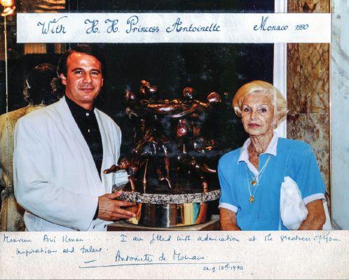 With Princess Antoinette - Monaco 1990