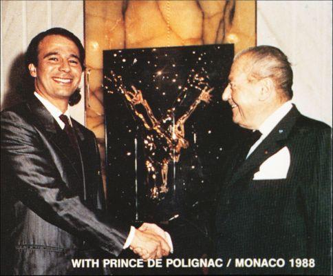 With Prince De Polignac / Monaco 1988