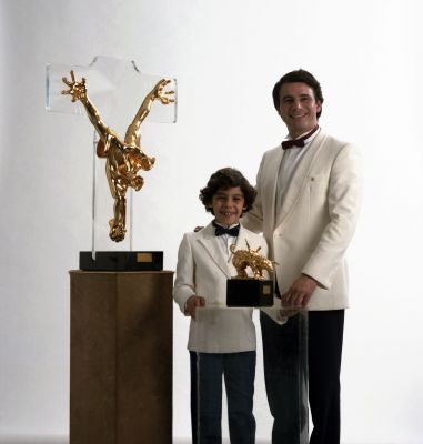 With his son Omri Kenan