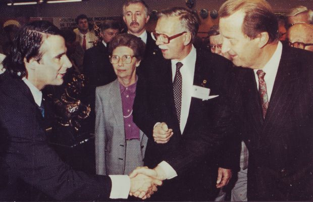 Avi Kenan with HH Prince Albert - Belgium - 1989