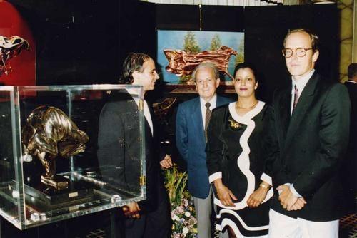 Exhibition in Hotel de Paris, Monaco in 1990